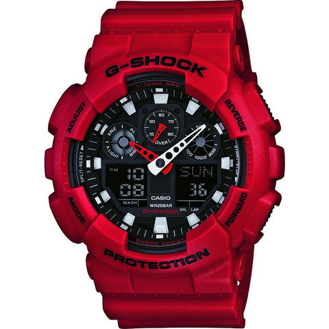 Casio G-Shock GA-100B-4ACR Watch | Maroon