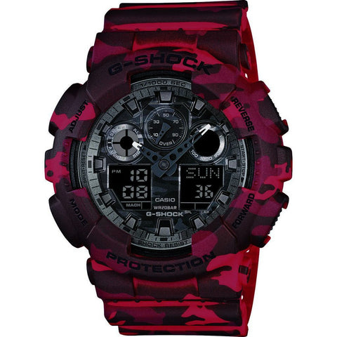 Casio G-Shock Resin Quartz Watch | Camoflage Multicolor GA-100CM-4A