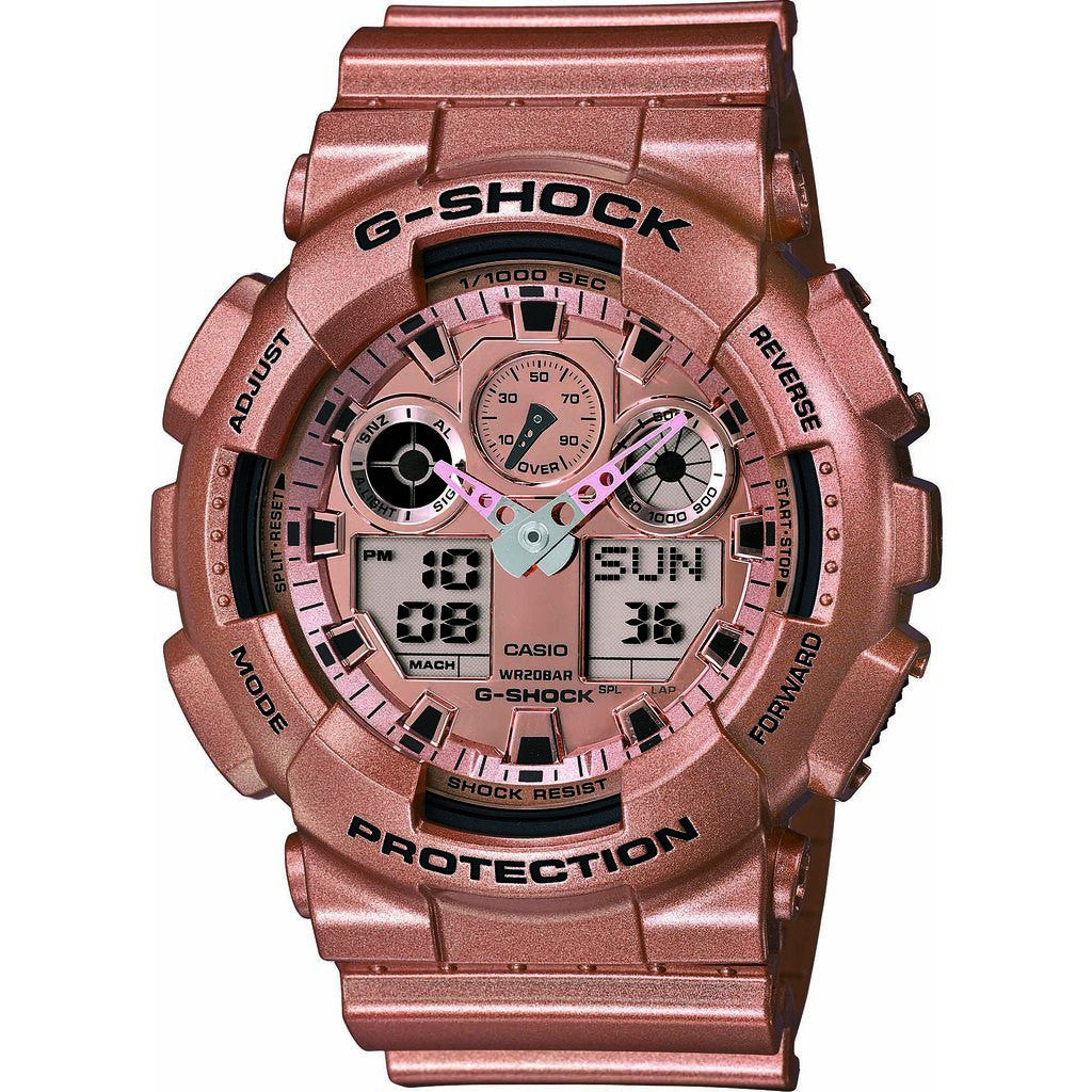 Casio G-Shock Classic Designer Watch | Rose Gold GA-100GD-9A