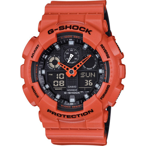 Casio G-Shock 3-Eye Military GA100L-4ACR Watch | Orange