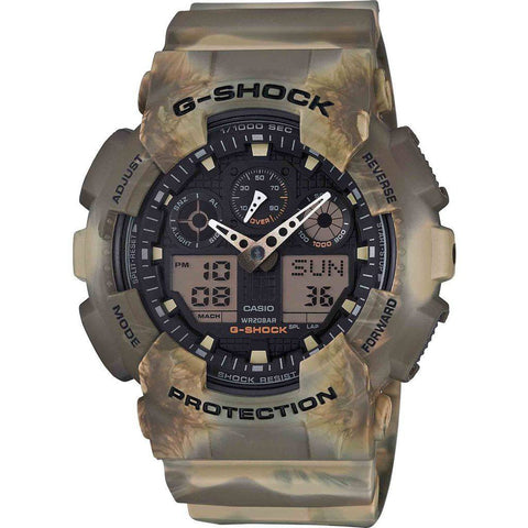 Casio G-Shock Marble Edition GA100MM-5A Watch | Brown Camo