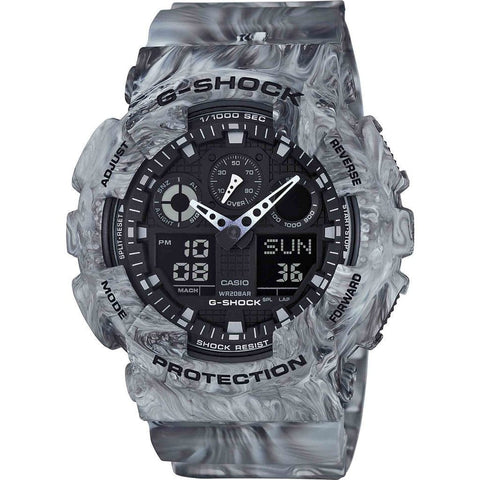 Casio G-Shock Marble Edition GA100MM-8A Watch | Gray Camo
