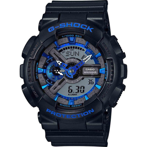 Casio G-Shock Black 'n Blue Hue Series GA110CB-1A Watch | Black/Blue