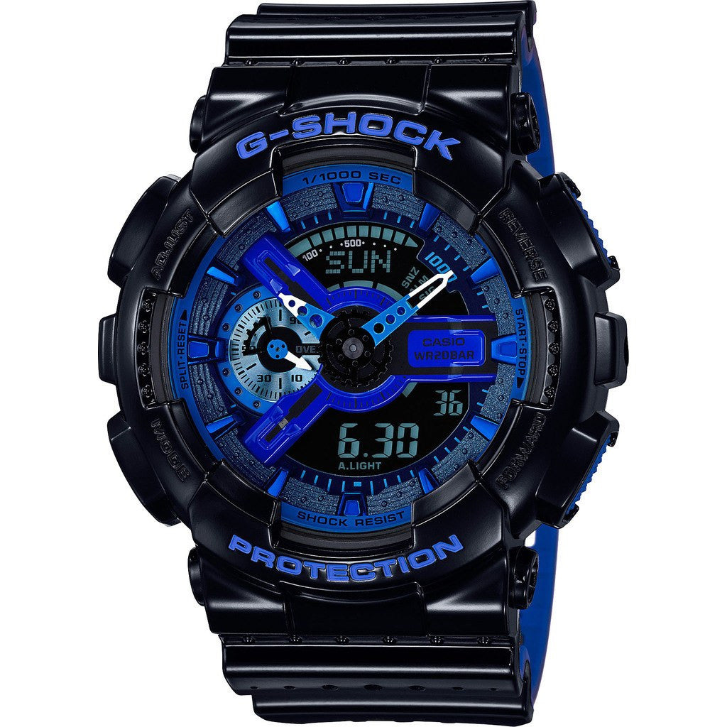 Casio G-Shock 3D Perforated Gloss GA110LPA-1ACR  Watch | Black/Blue