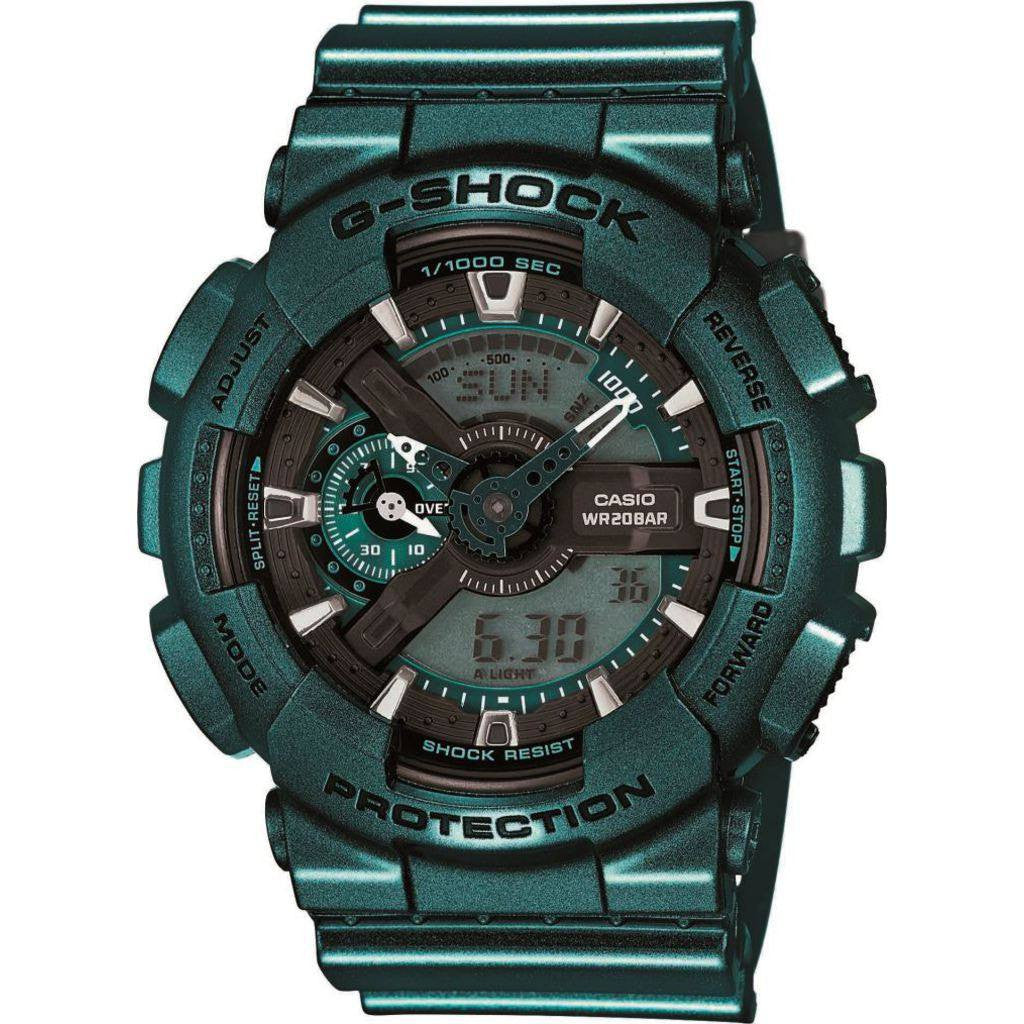 Casio G-Shock Resin Quartz Watch | Green GA110NM-3A