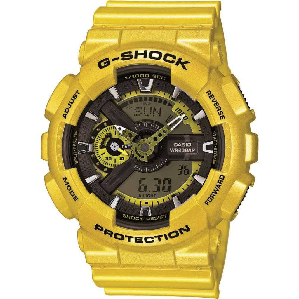 Casio G-Shock Resin Quartz Watch | Yellow GA110NM-9A