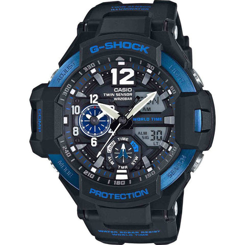 Casio G-Shock GA-1100-2BCR Watch | Black/Blue