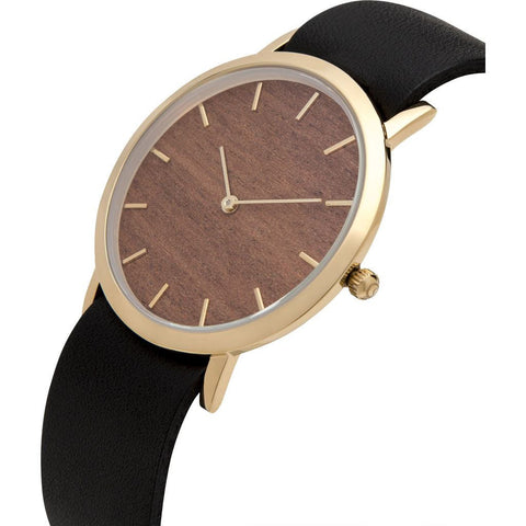 Analog Classic Makore Wood Watch | Black Strap GB-CM