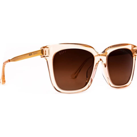 DIFF Eyewear Bella Sunglasses | Ginger Crystal + Light Brown Gradient Lens