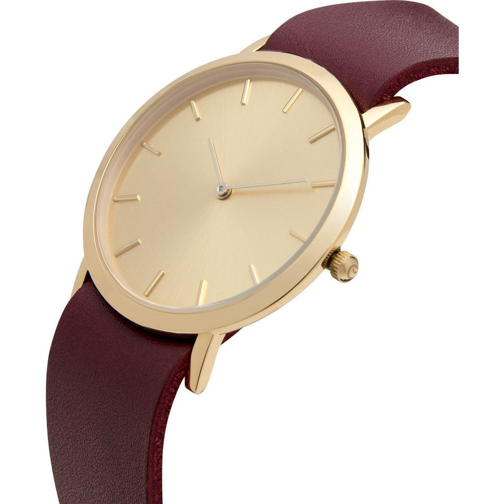 Analog Classic Gold Plated Watch | Cherry Strap GC-CG