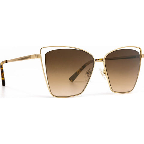 DIFF Eyewear Becky III Sunglasses | Gold + Brown Gradient Lens