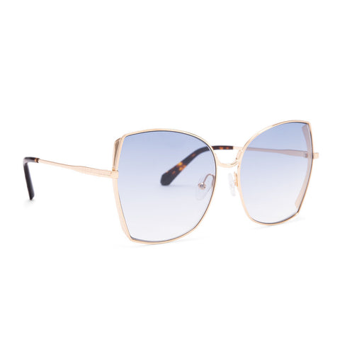 Diff Eyewear Donna Sunglasses | Gold + Blue Gradient