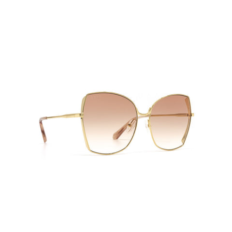 Diff Eyewear Donna Sunglasses | Gold + Pink Gradient