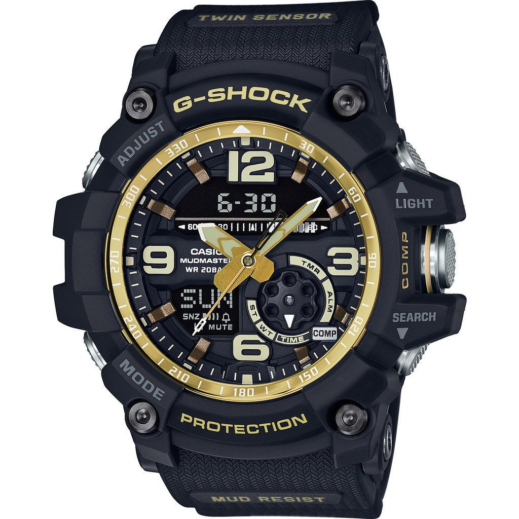 Casio G-Shock MUDMASTER Twin Sensor GG1000GB-1ACR Watch | Black/Gold