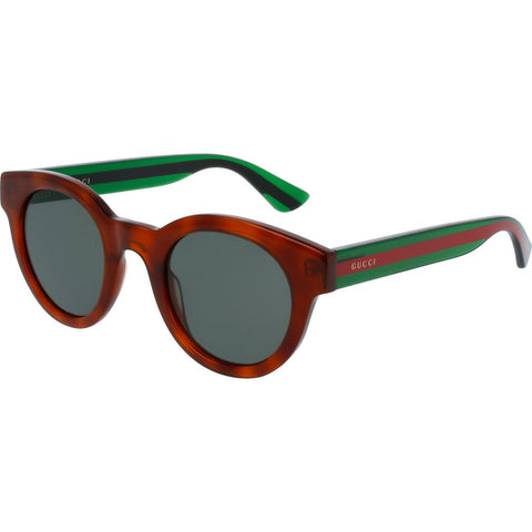 Gucci GG0002S-003 Men's Sunglasses | Shiny Transparent Green/Red Green/Round