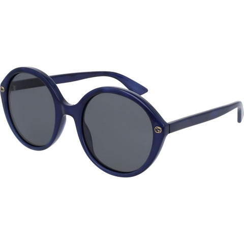 Gucci GG0023S-004 Women's Sunglasses | Pearled Blue/Grey/Round