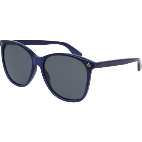 Gucci GG0024S-005 Women's Sunglasses | Pearled Blue/Grey/Round