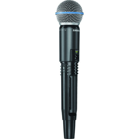 Shure GLXD2/B58 Handheld Transmitter with Beta 58 Microphone | Black/Blue