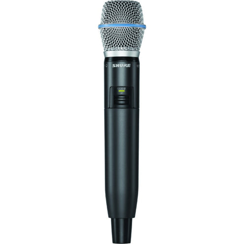 Shure GLXD2/B87A Handheld Transmitter with Beta 87A Microphone | Black/Blue