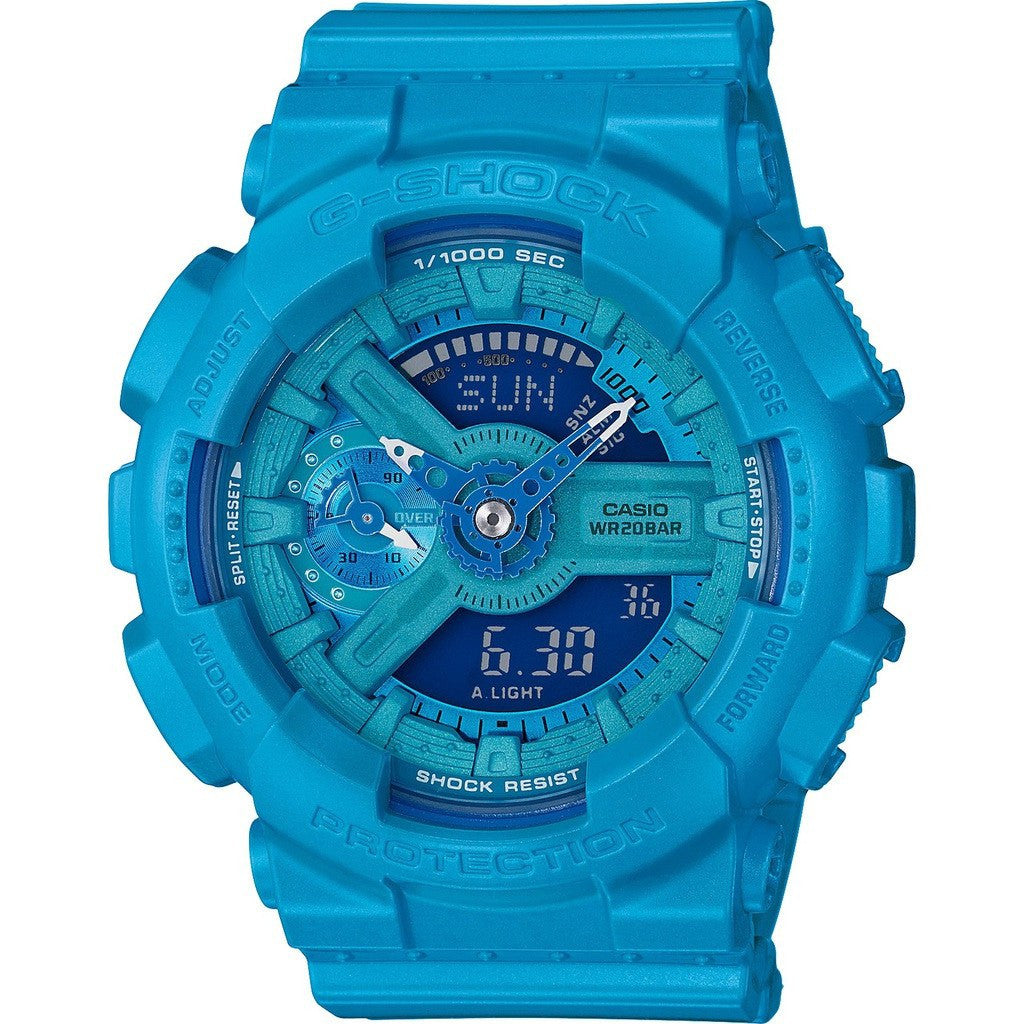 Casio G-Shock S Series GMAS110VC-2ACR Watch| Bright Vivid Light Blue
