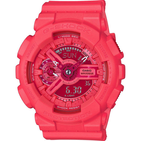 Casio G-Shock S Series GMAS110VC-4ACR Watch | Bright Vivid Light Pink