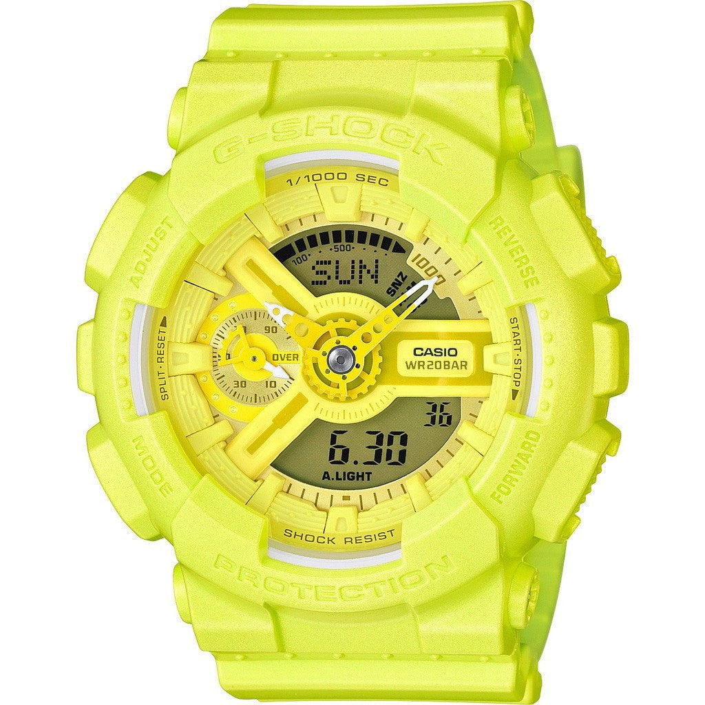 Casio G-Shock S Series GMAS110VC-9ACR Watch| Bright Vivid Light Yellow