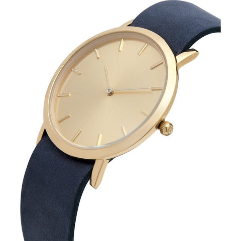 Analog Classic Gold Plated Watch | Navy Strap GN-CG