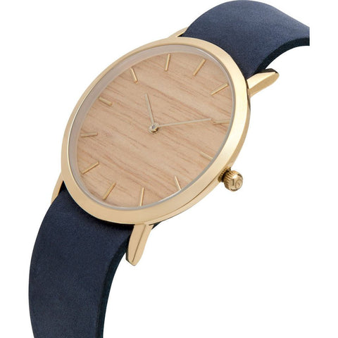 Analog Classic Silverheart Wood Watch | Navy Strap GN-CS