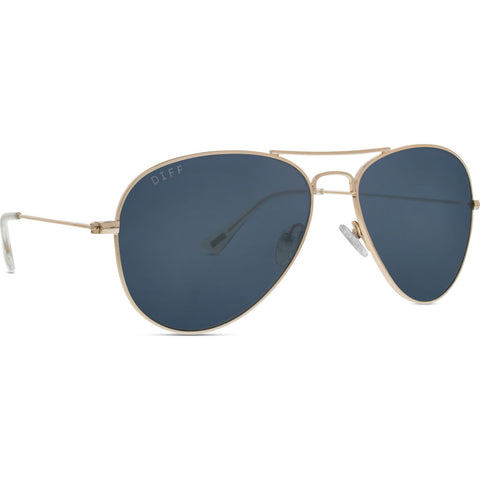 DIFF Eyewear Cruz Sunglasses | Gold + Grey Lens