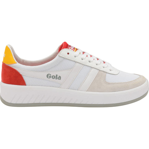 Gola Mens Grandslam Mesh Sneakers | White/Baltic/Red- CMA588-Size 13