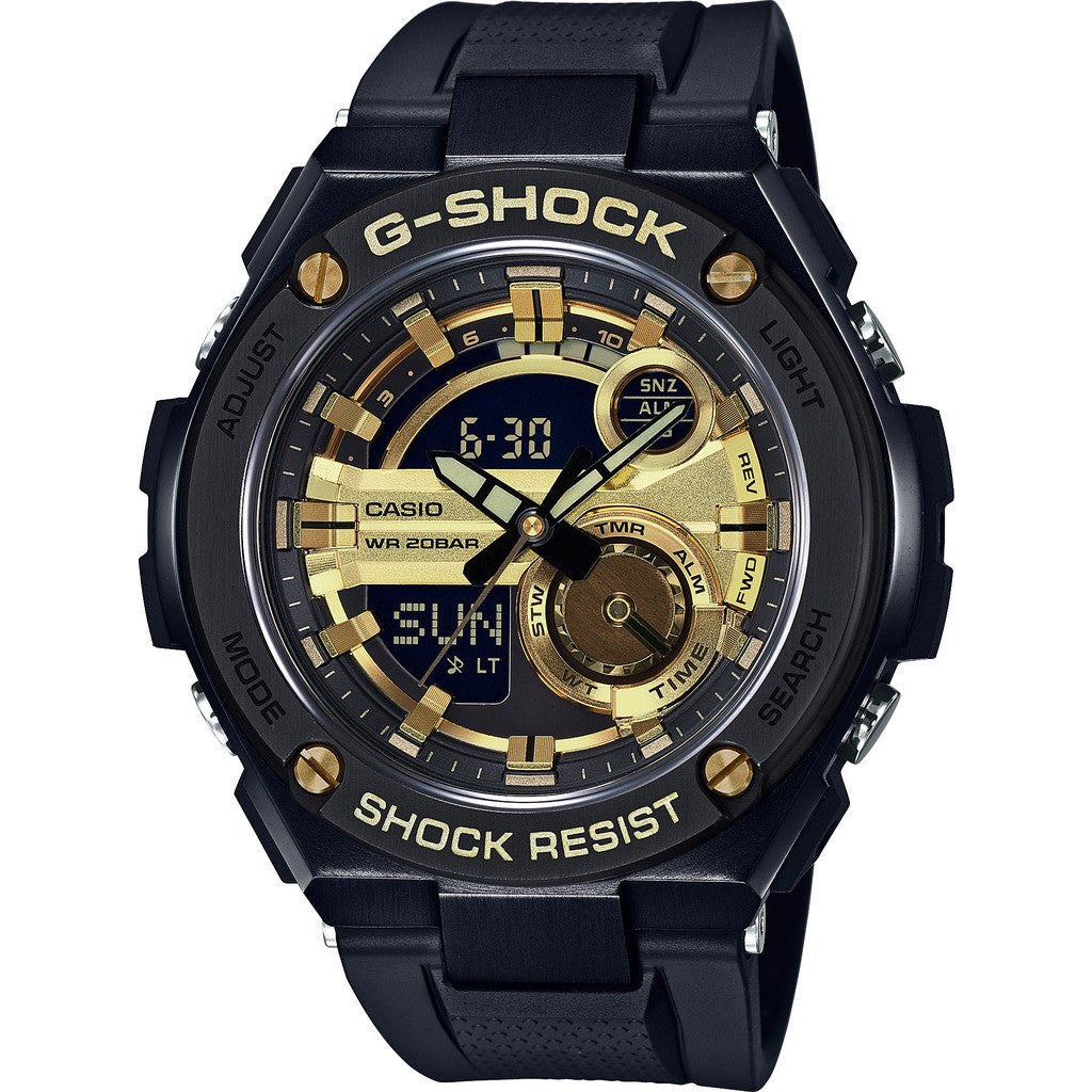 Casio G-Shock G-Steel 2nd Gen 3D GST210B-1A9CR Watch |  Black/Gold