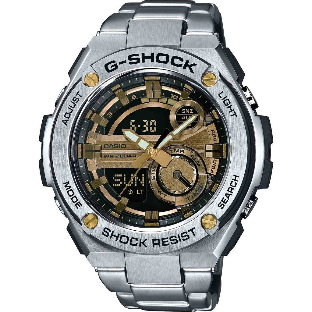 Casio G-Shock GST-210D-9ACR Watch | Silver/Gold