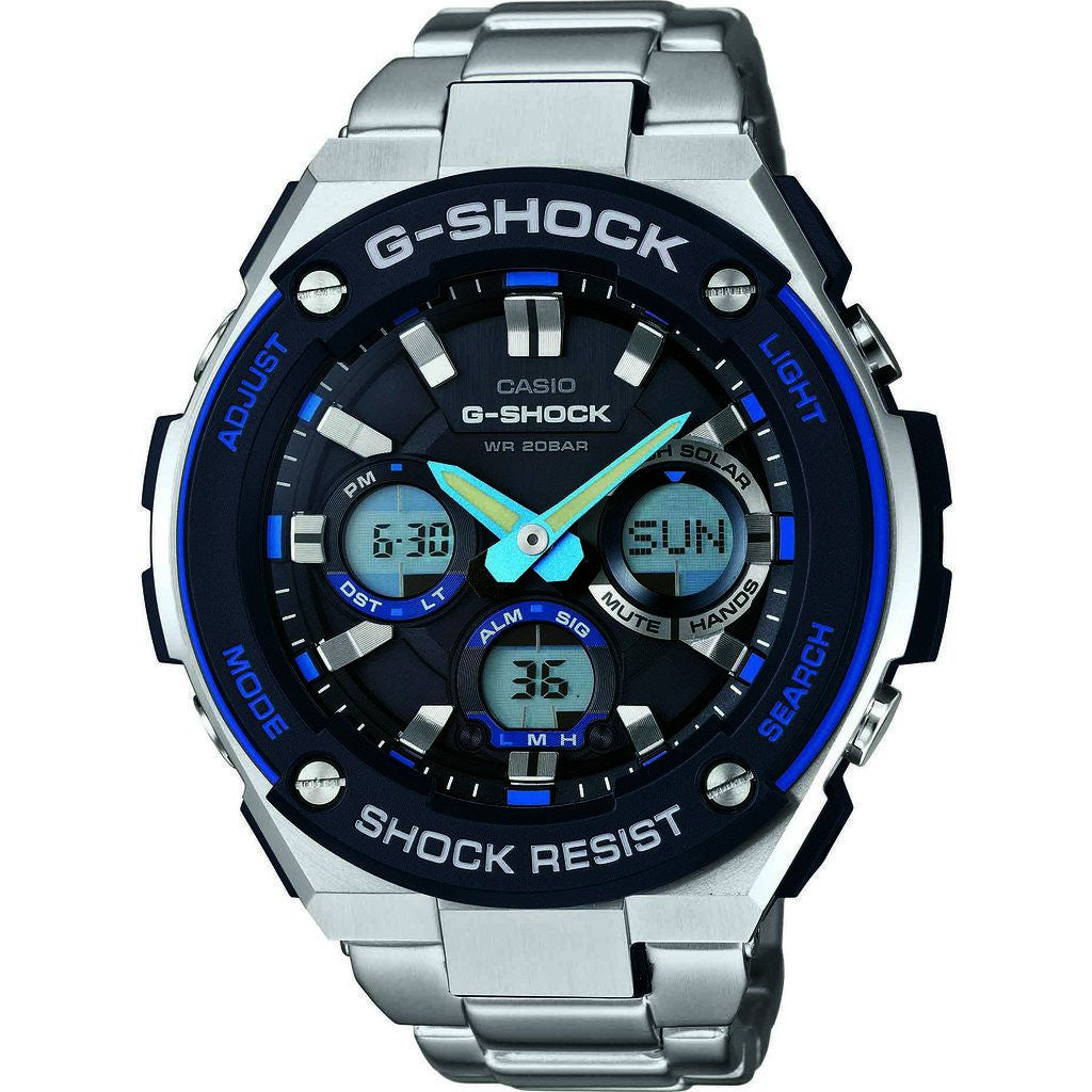 Casio GST-S100D-1A2CR Watch | Silver/Blue