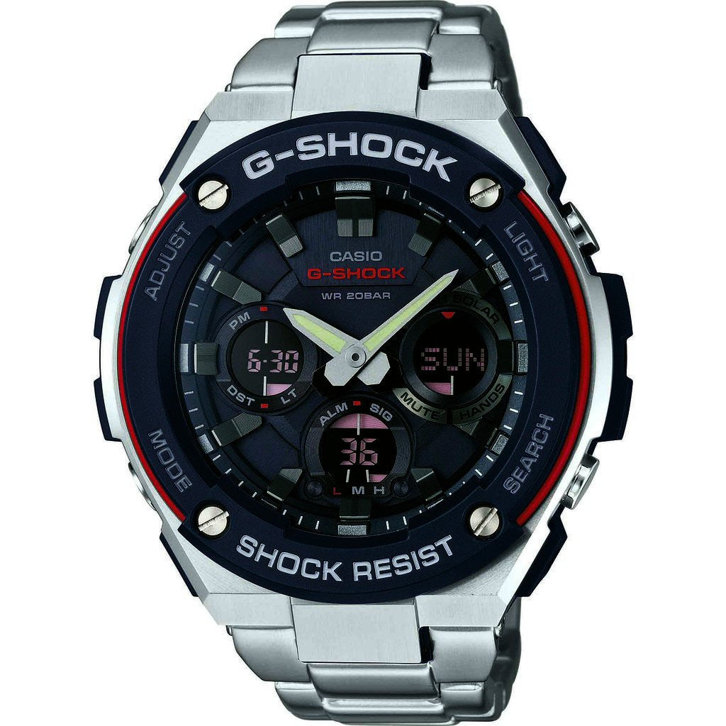 Casio GST-S100D-1A4CR Watch | Silver/Red