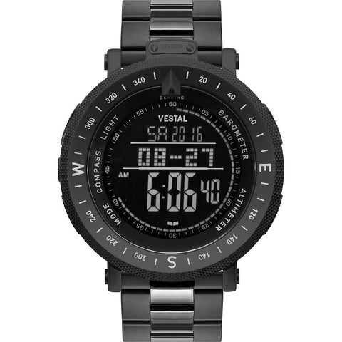 Vestal Guide 3-Link Metal Watch | Black/Black/Negative/Mixed