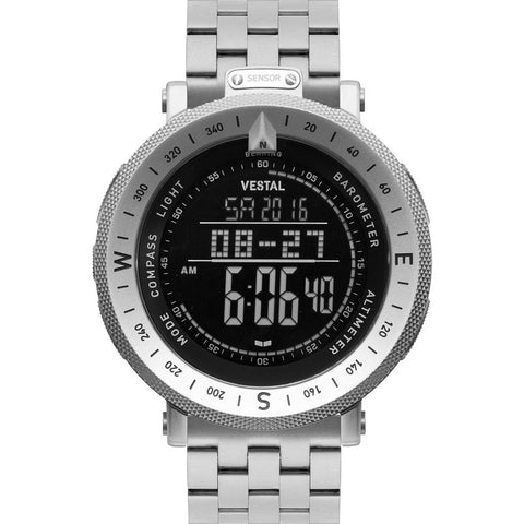 Vestal Guide 5-Link Metal Watch | Silver/Silver/Negative