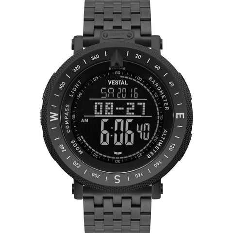 Vestal Guide 7-Link Metal Watch | Black/Black/Negative