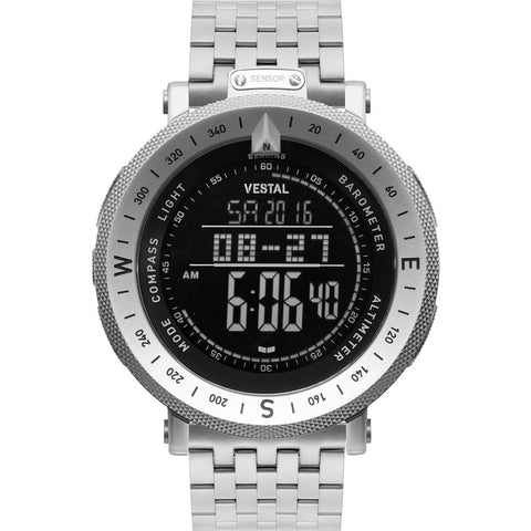 Vestal Guide 7-Link Metal Watch | Silver/Silver/Negative