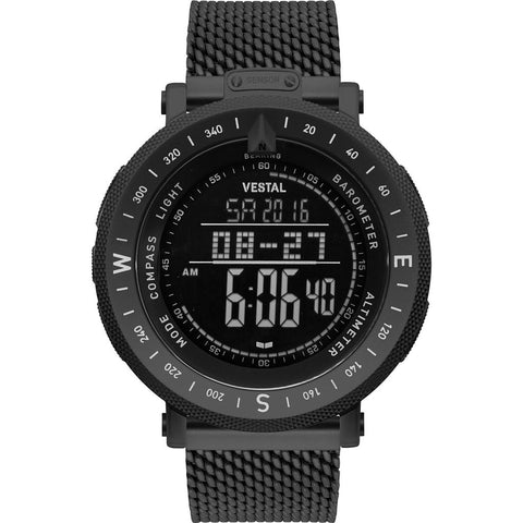 Vestal Guide Metal Watch | Black/Black/Negative/Mesh