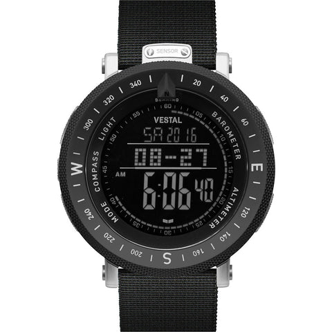 Vestal Guide Canvas Watch | Black Canvas/Silver-Black/Negative