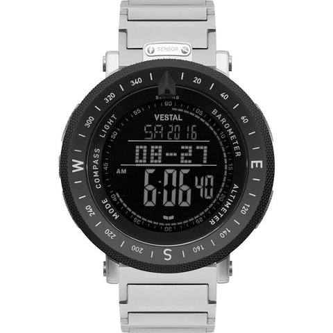 Vestal Guide 3-Link Metal Watch | Silver/Silver-Black/Negative/Matte