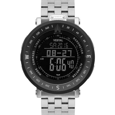 Vestal Guide 5-Link Metal Watch | Silver/Silver-Black/Negative