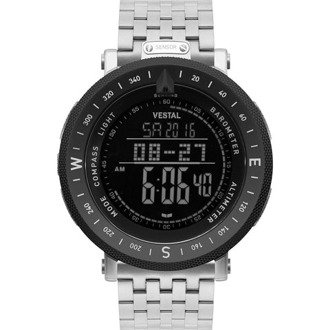 Vestal Guide 7-Link Metal Watch | Silver/Silver-Black/Negative