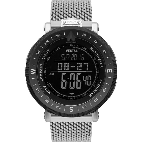 Vestal Guide Metal Watch | Silver/Silver-Black/Negative/Mesh
