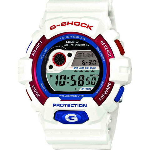 Casio G-Shock Tricolor Resin Multi-Band Watch | White GW-8900TR-7