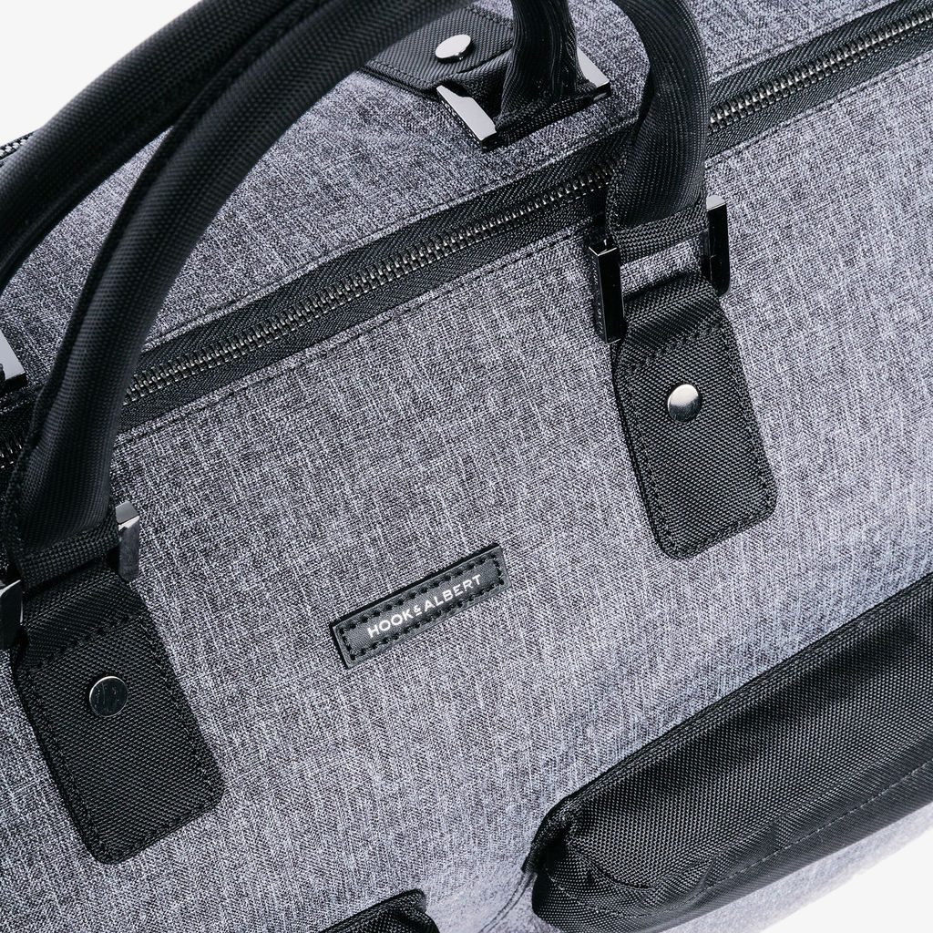 Hook & Albert Melange Fabric Garment Weekender | Gray GWBFBR-GRY-OS