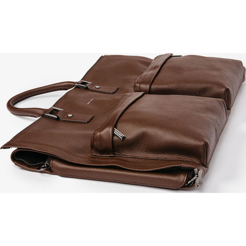 Hook & Albert Leather Garment Weekender | Brown GWBLTH-BRN-OS