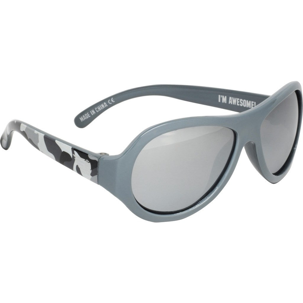 Babiators Galactic Gray Camo Polarized Sunglasses | Ages 0-3 / Ages 3-7+