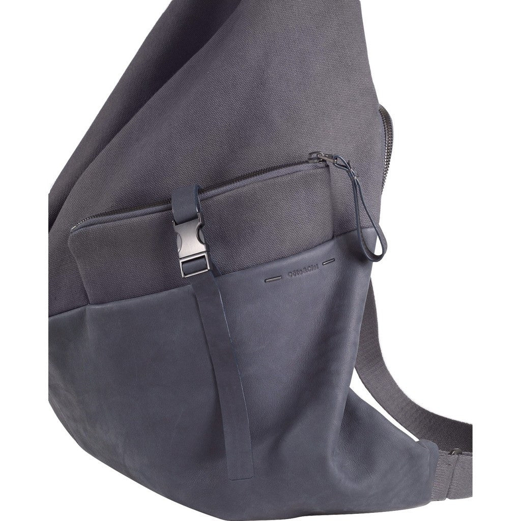 Cote&Ciel Ganges Alias Medium Cowhide Leather Backpack | Graphite Grey 28391