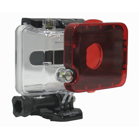Polar Pro GoPro Snap On Red Filter | Hero3 Standard Housing